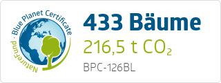 Blue Planet Certificate BPC126BL